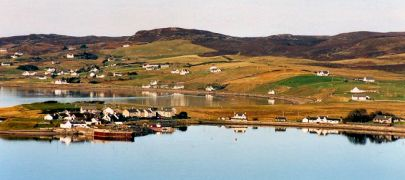 A view of Aultbea village. Mellon Charles, where Tranquility Bed and Breakfast is located, is quite close by.